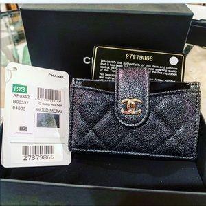 19S Chanel Iridescent multi card